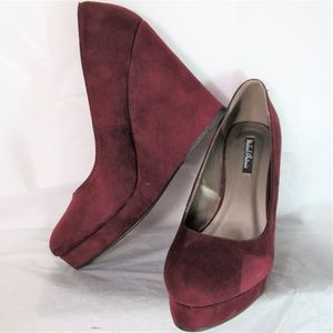 Michael Antonio* Vegan Suede Platform Wedges